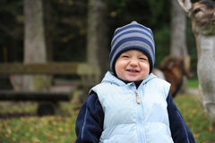 Funny grinning boy Royalty Free Stock Image