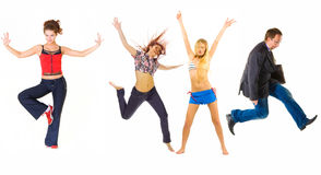 Funny group Stock Photography