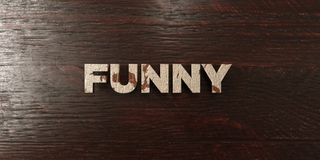 Funny - grungy wooden headline on Maple  - 3D rendered royalty free stock image Royalty Free Stock Images