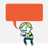 Funny guy. Illustration of a speaking guy Stock Photography