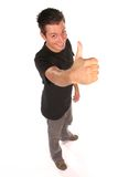Funny guy. Smiling young man, isolated on white Royalty Free Stock Photography
