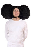 Funny guy with big ears (Cheburashka) Royalty Free Stock Photography