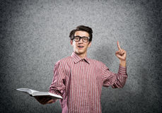 Funny guy with book Stock Image