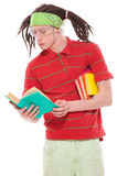 Funny guy with books Stock Images