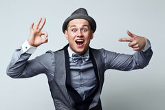 Funny guy gesturing Royalty Free Stock Images
