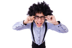 Funny guy isolated Stock Image