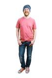 Весёлый счастливый парень в джинса Stock Photography