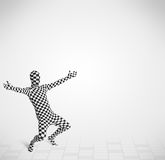 Funny guy in morphsuit body suit looking at copy space Royalty Free Stock Images
