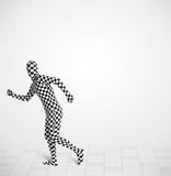 Funny guy in morphsuit body suit looking at copy space Royalty Free Stock Photos