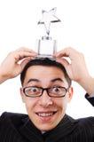 Funny guy receiving award Stock Photos
