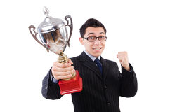 Funny guy receiving award Royalty Free Stock Images