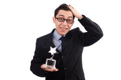 Funny guy receiving award Royalty Free Stock Photography