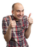 Funny guy showing his thumbs up Royalty Free Stock Image