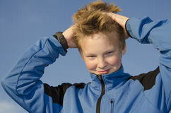 Funny guy with spiky hair Royalty Free Stock Image
