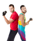 Funny gym club situation Stock Photos