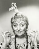 Funny hair and makeup Stock Image