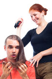 Funny hairdressing Royalty Free Stock Image