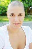 Funny hairless girl Royalty Free Stock Photo
