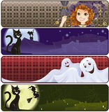 Funny Halloween banners Stock Photo