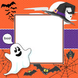 Funny halloween card Stock Images