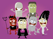 Funny halloween characters Royalty Free Stock Images