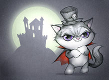 Funny Halloween evil cat Royalty Free Stock Photography