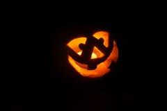 Funny halloween little pumpkin Stock Images