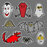 Funny Halloween monsters Stock Images