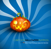 Funny Halloween Pumpkin with Big Smile Stock Images