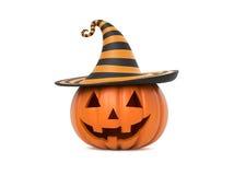 Funny Halloween pumpkin Royalty Free Stock Photos