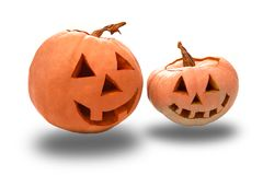 Funny Halloween pumpkins Royalty Free Stock Image