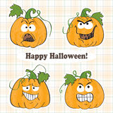 Funny halloween pumpkins - stickers Stock Images
