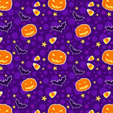 Funny Halloween seamless background. Funny and cute Halloween seamless background Stock Images