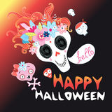 Funny Halloween skull Royalty Free Stock Images