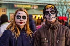 Funny Halloween in Uzhgorod royalty free stock image