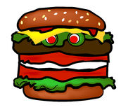 Funny Hamburger Royalty Free Stock Images