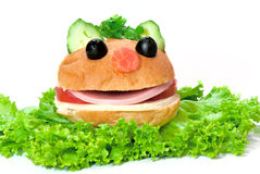 Funny hamburger Stock Photo