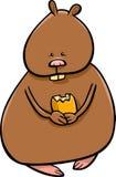 Funny hamster cartoon illustration Stock Images