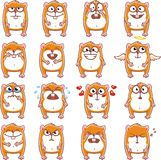 Funny hamsters (2). 16 smiley hamsters individually grouped for easy copy-n-paste. Vector Royalty Free Stock Images