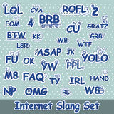 Hand drawn internet slang set Royalty Free Stock Photos