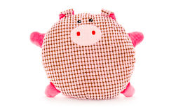 Funny hand made plush pig Stock Photography