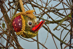 Funny handmade head of a duck Royalty Free Stock Images