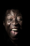 Funny handsome african black man studio portrait. Stock Images