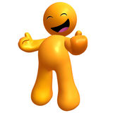 Funny and happy 3d icon. Illustration Stock Images