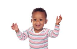 Funny and happy african baby royalty free stock photo