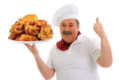 Funny happy baker Stock Image