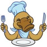 Funny happy cartoon platypus or duckbill Stock Images