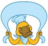 Funny happy cartoon platypus or duckbill Stock Image