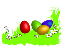 Funny happy easter frame Royalty Free Stock Photo