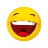 Funny happy emoticon icon Stock Photo